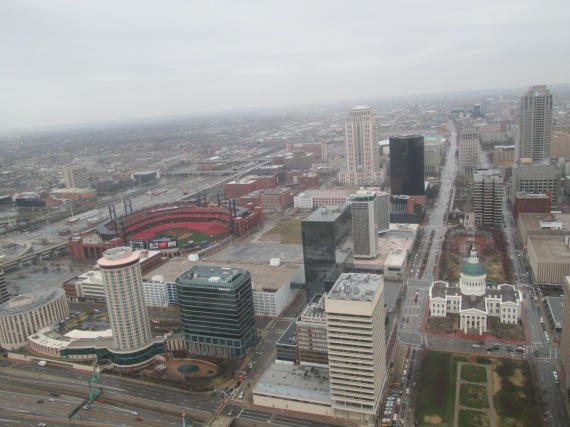 We rode to the top of the Gateway Arch.