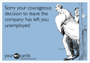 leave the company