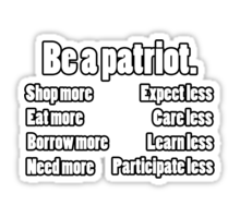 be a patriot