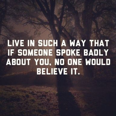 live in a way