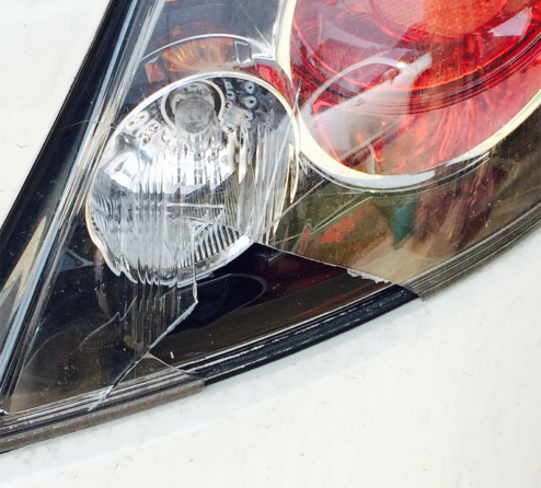 car light busted